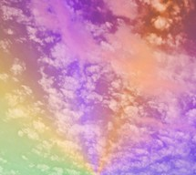 rainbow colored sky