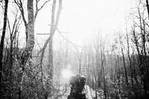 Backpacking through an Arkansas marsh.