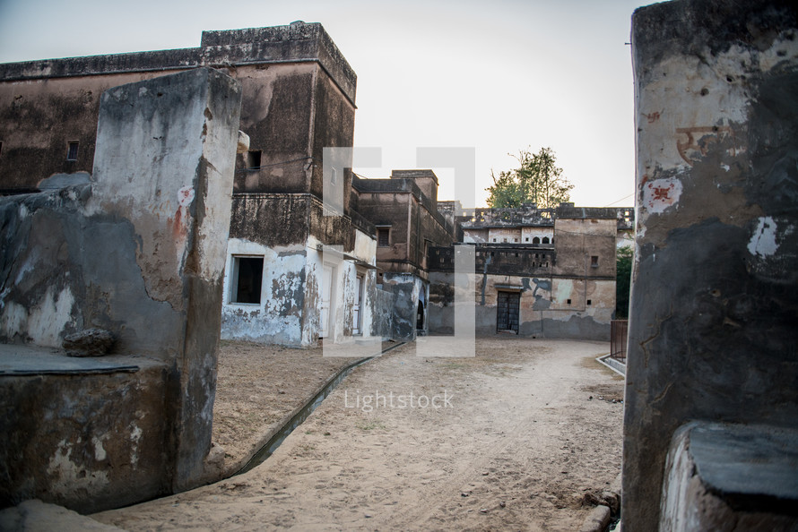 old buildings in Mandawa, India