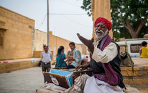street musician in India