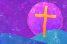 painted Easter cross