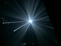 converging spotlights