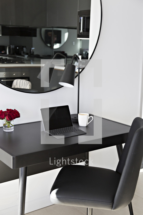 Apartment living, home office desk