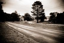 rural church down a country road