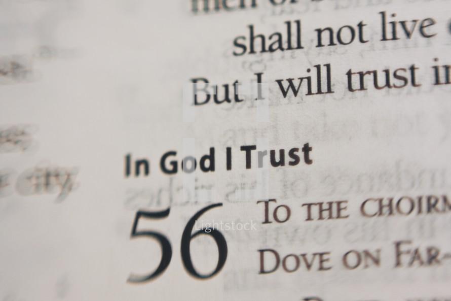in God I Trust scripture