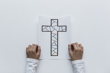 coloring page of a cross