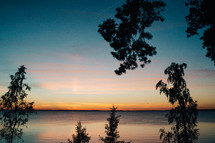 Lake Hjälmaren at sunset