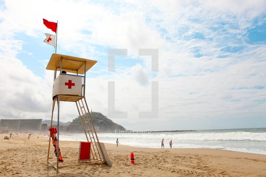 Beach lifeguard post