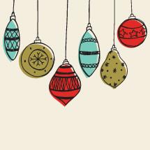 hanging Christmas ornament border