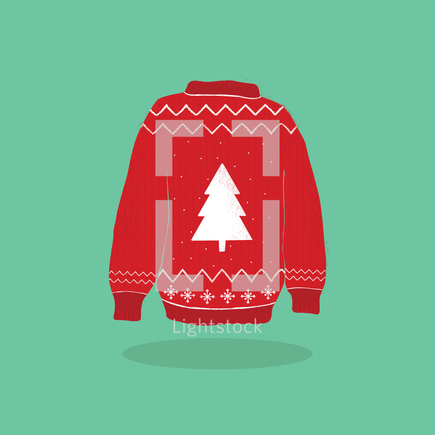 Christmas sweater icon
