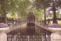 fountain in Paris Luxembourg Gardens