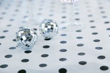 disco balls on polka dots