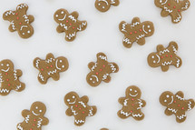 scattered ginger bread cookies
