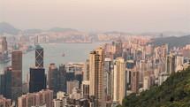 time-lapse of Hong Kong China
