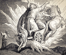 Elijah Taken Up to Heaven, 2 Kings 2 11-12