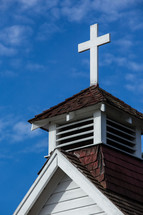 cross on a steeple