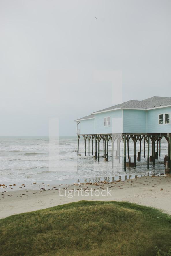 beach house on stilts