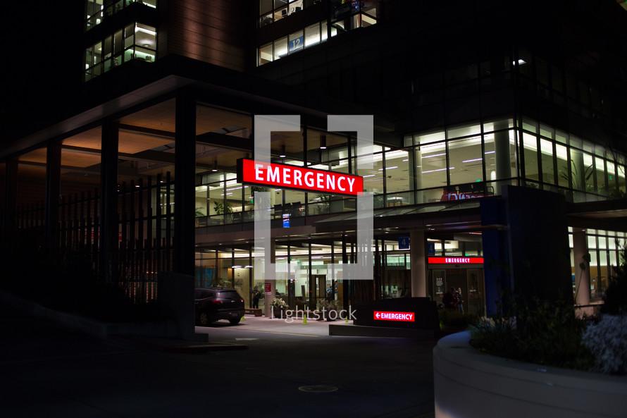 Emergency Room at a hospital
