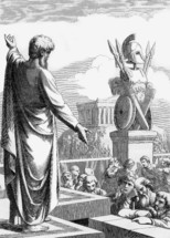 Paul preaching in Athens, Acts 17:22