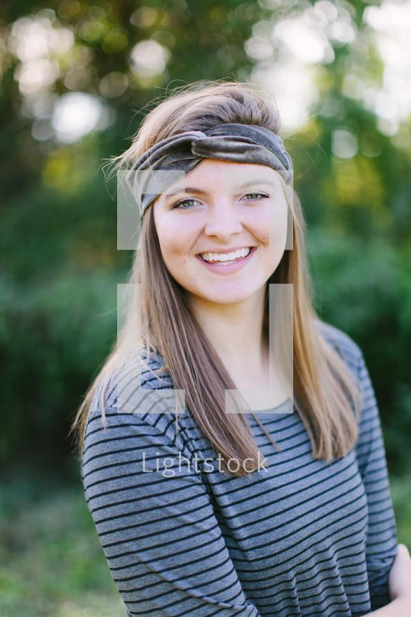 portrait of a teen girl outdoors