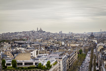 Montmartre from the 'Arc de Triomphe'