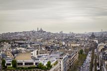 Montmartre from the 'Arc de Triomphe'