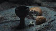 chalice and loaf of bread