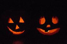 carved jack-o-lantern pumpkins for Halloween