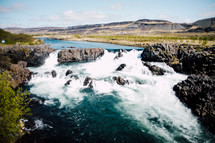 river rapids in Iceland