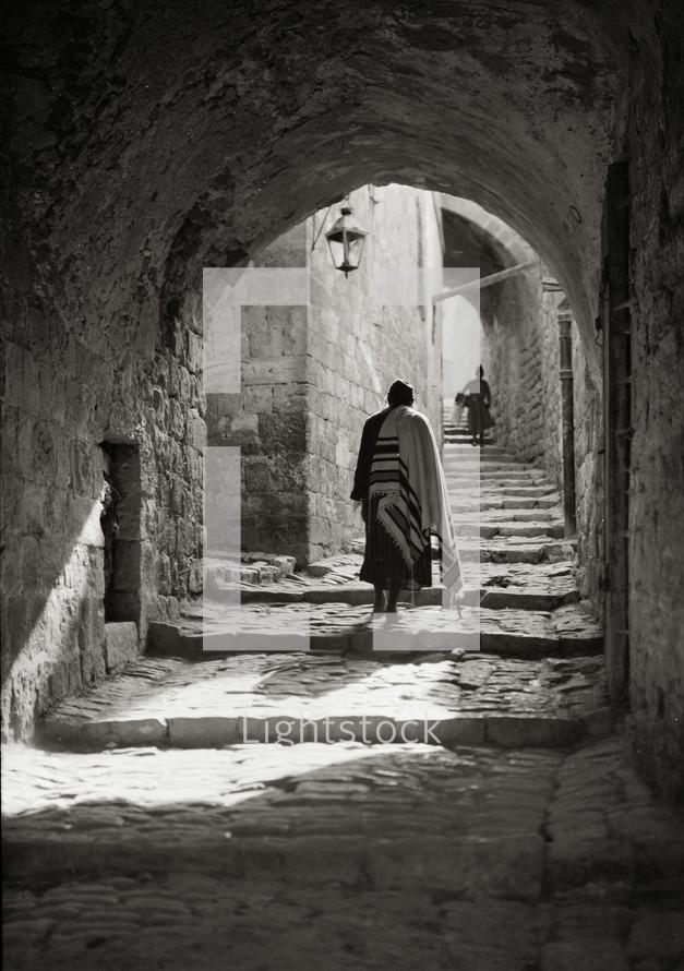 A street in the Jewish Quarter.