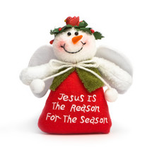 Jesus is the Reason for the Season snowman angel