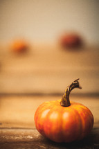 small orange pumpkin