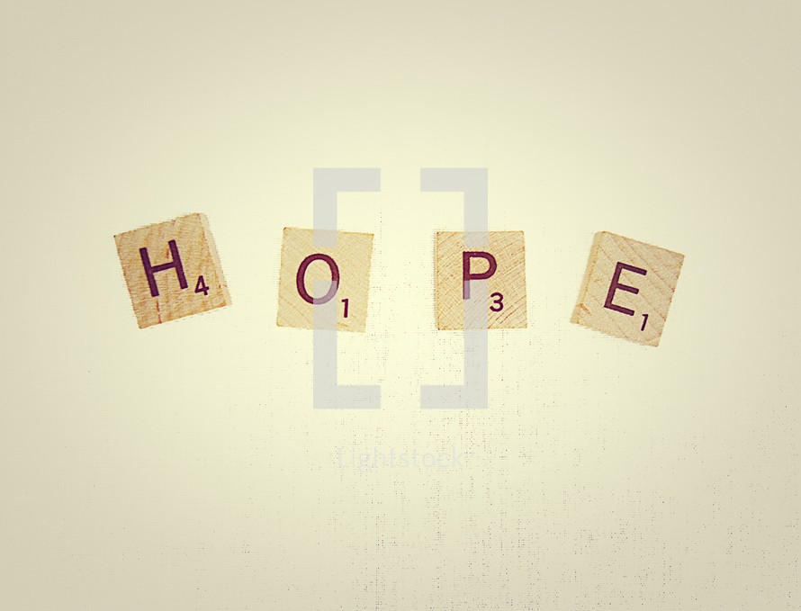 hope in scrabble pieces