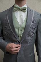 torso of a man in a tuxedo
