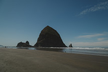 rock formations on Cannon Beach