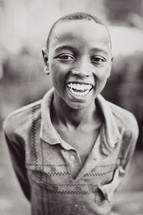 Happy Ethiopian boy