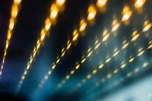 bokeh light beams