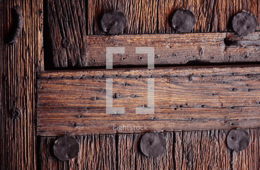 antique wood door