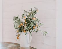 lemon branches in a vase