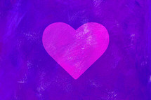 pink heart on a purple background