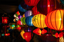 Chinese lanterns. Vietnamese lantern festival.