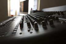 knobs on a soundboard