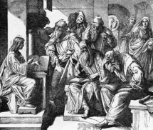 Jesus teaching in the temple, Luke, 2: 46-47