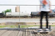 teen boy on a skateboard