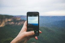 taking a picture with an iPhone