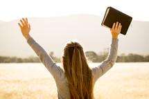 Girl Worshipping God