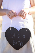 It's a Boy Written on Chalkboard