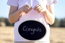 Congrats written on Chalkboard
