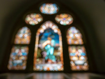 blurry stained glass window