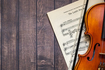 The Lord's Prayer sheet music and violin